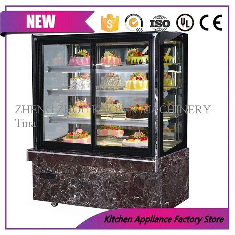Vitrina para panadería, vitrina para pasteles, refrigerador de exhibición de tartas vertical