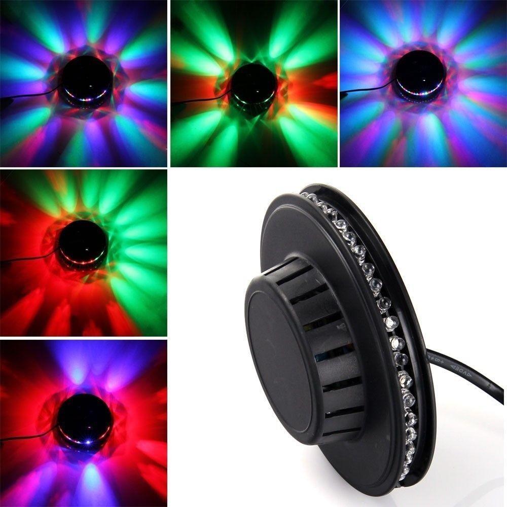 RGB girasol Led luz activada por voz Led noche Club escenario iluminación efecto láser Lumiere candelabro Lustre