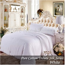 1Silk Quilt Summer +1Winter Comforter Silk > 2 Silk Blankets Total 4kg Handmade Winter Silk Quilts King silk Quilted Bedspread