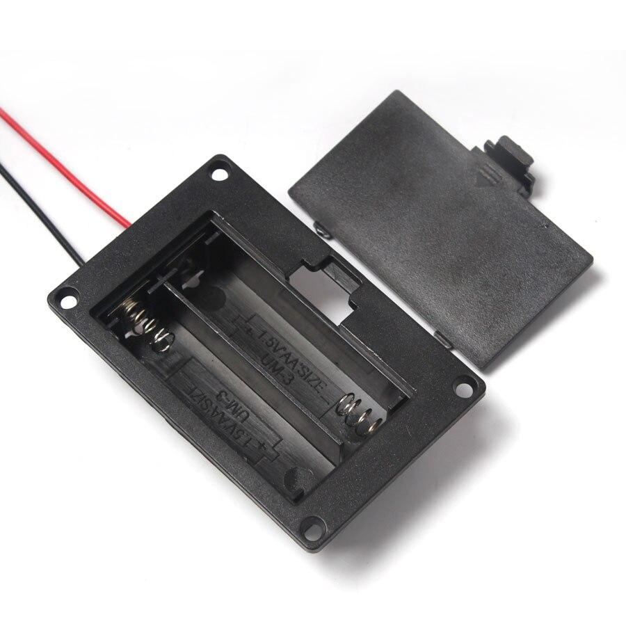 ¡Oferta! 1 unids/lote funda de plástico duro soporte negro caja de almacenamiento de batería para AA Spring 2 ranuras caja de almacenamiento de batería