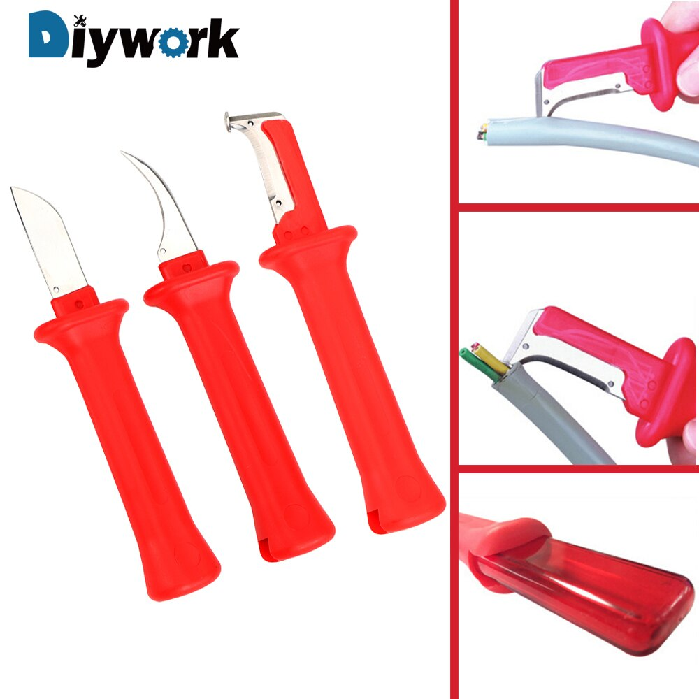 DIYWORK Cable Stripper Hand Tools Multifunction Wire Stripper Knife Insulation Stripping Pliers