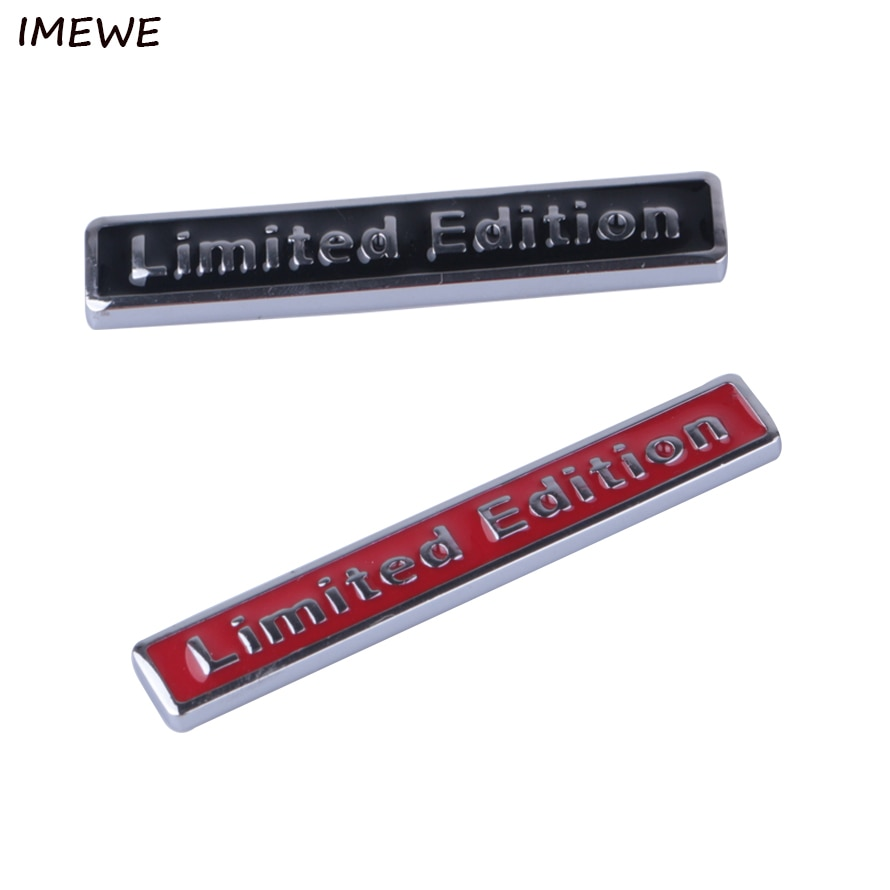 IMEWE Metal 3D negro limitado pegatina de edición Universal emblema de carrocería de coche insignia pegatina cromo emblema coche estilo 2018