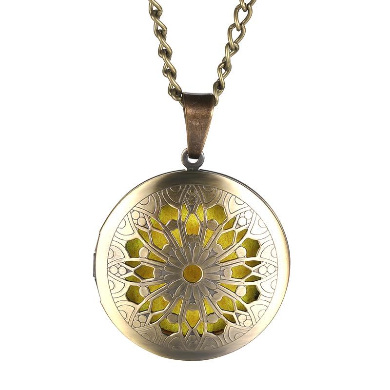 Круглые медальоны для ароматерапии, круглые медальоны из латуни для ароматерапии, женские металлические украшения