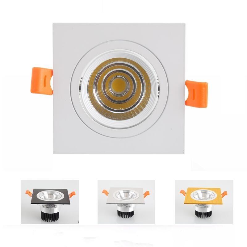 Regulable cuadrado 10w 15w 25w 35w Cob regulable accesorio techo abajo lámpara luces cálido Natural frío blanco AC110V 220V + controlador Led