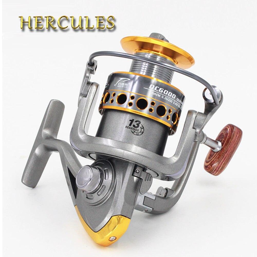 Hercules 2 Colors 13 BB 5.2:1 Surf Casting Reel Long Shot Sea Fishing Reels Cast Wheel Spinning Fish Reel 1000-7000 Series