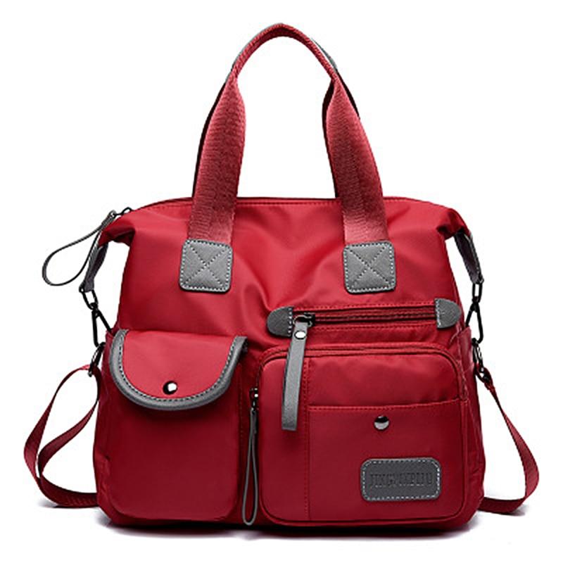 Bolso de Nylon Oxford impermeable para mujer, bolso de hombro de gran capacidad, bandolera informal, bolso de mensajero, bolso de momia
