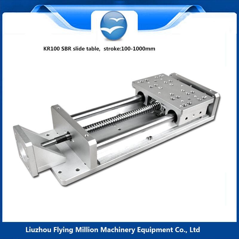 Discount wholesale effective stroke  1605 screw rod aluminiunm  SBR linear stage slide table