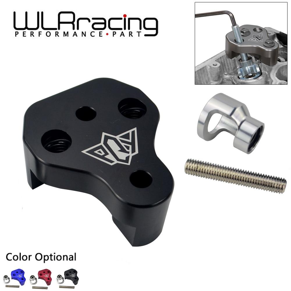 Wlr racing-ferramenta de compressor de mola de válvula de alumínio para 02-14 subaru wrx & 04-18 sti com logotipo pqy WLR-VSC03