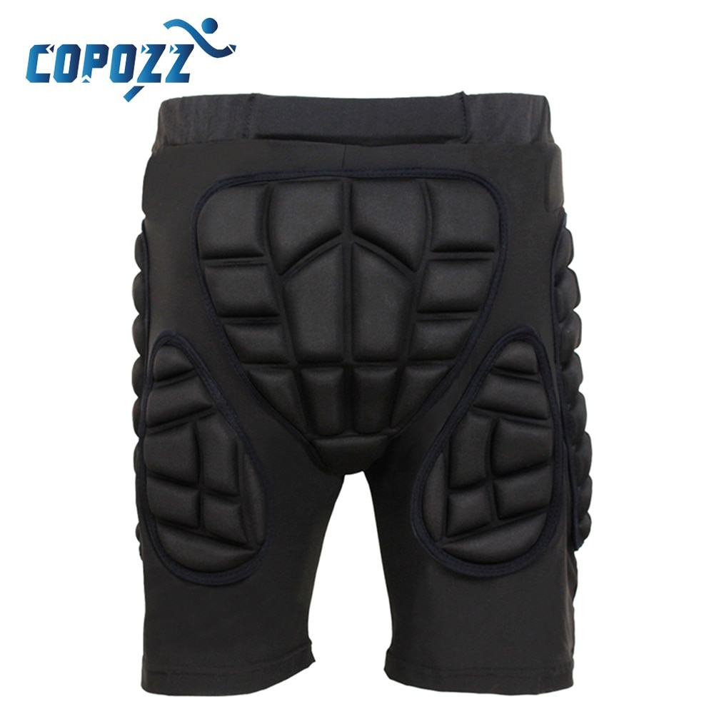 Copozz Outdoor Total Impact Hip Pad Protective Shorts Unisex Light  Snowboard Ski Skating Hip Protection Padded Sports Gear