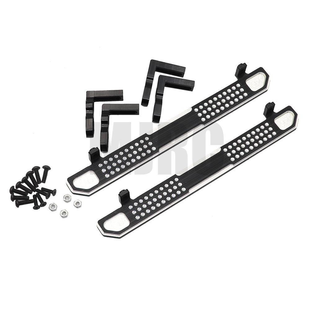 MJRC 2 piece aluminum side metal cleat pedal for TRAXXAS Trx-4 TRX4 1/10 scale RC crawler upgraded parts enlarge