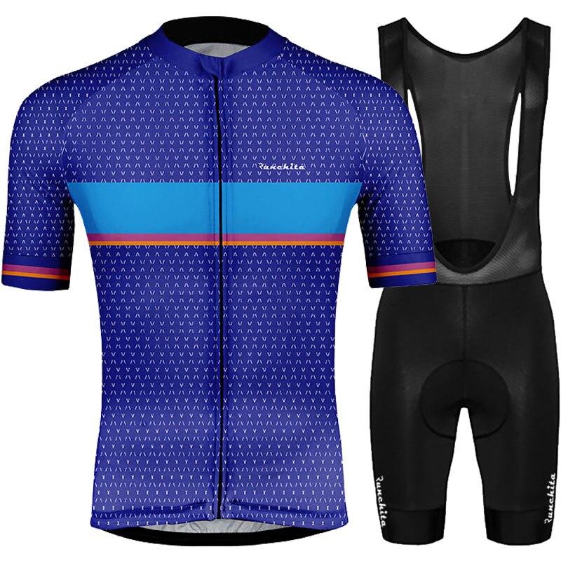 Ropa de ciclismo Terno de manga corta 2019 RUNCHITA ciclismo jersey conjunto...