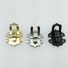 4Pcs 30*30mm,Antique Iron Jewelry Box Padlock Hasp Locked Wooden Wine Gift Box Handbag Buckle Hardware Accessories