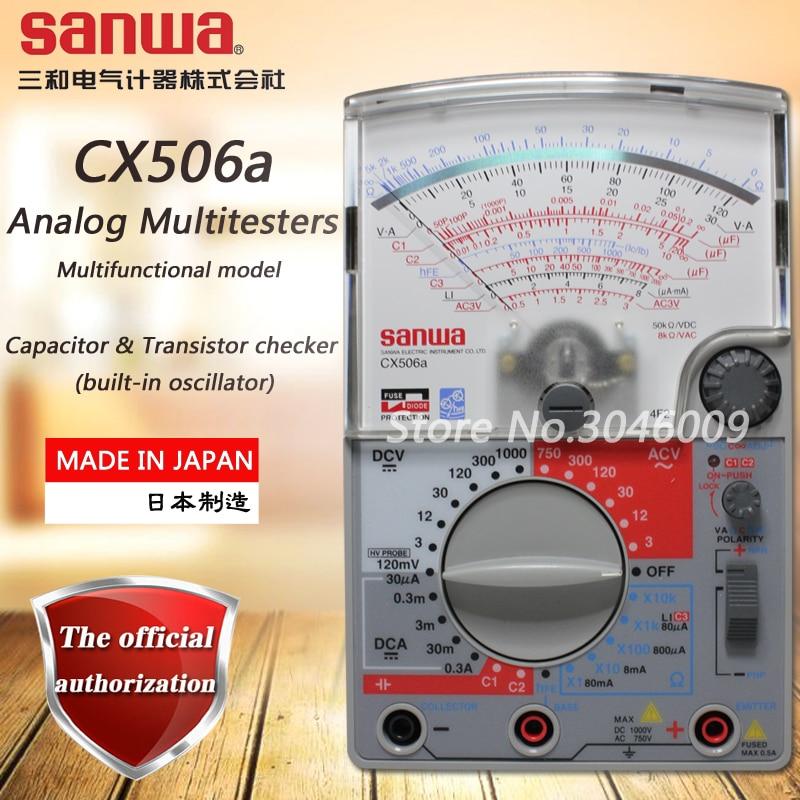 Sanwa CX506a التناظرية المتعدد ، مؤشر متعددة الوظائف/متعددة المدى المتعدد مكثف والترانزستور تحقق وظيفة