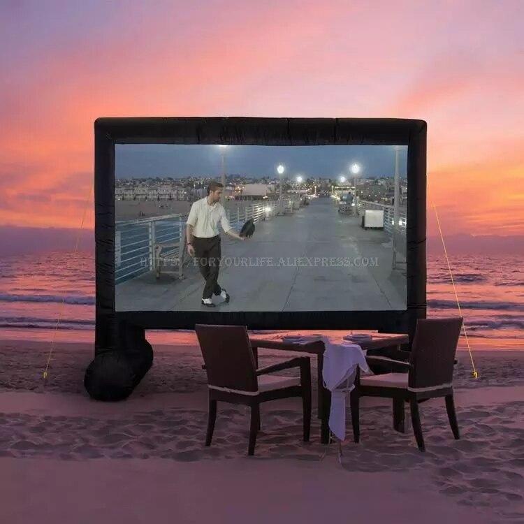 Odkryty podwórku duży nadmuchiwany projektor ekran kinowy 16:9 14 16 17 20 22 25 ft airblown pokój kryty jumbo teatr dla dzieci