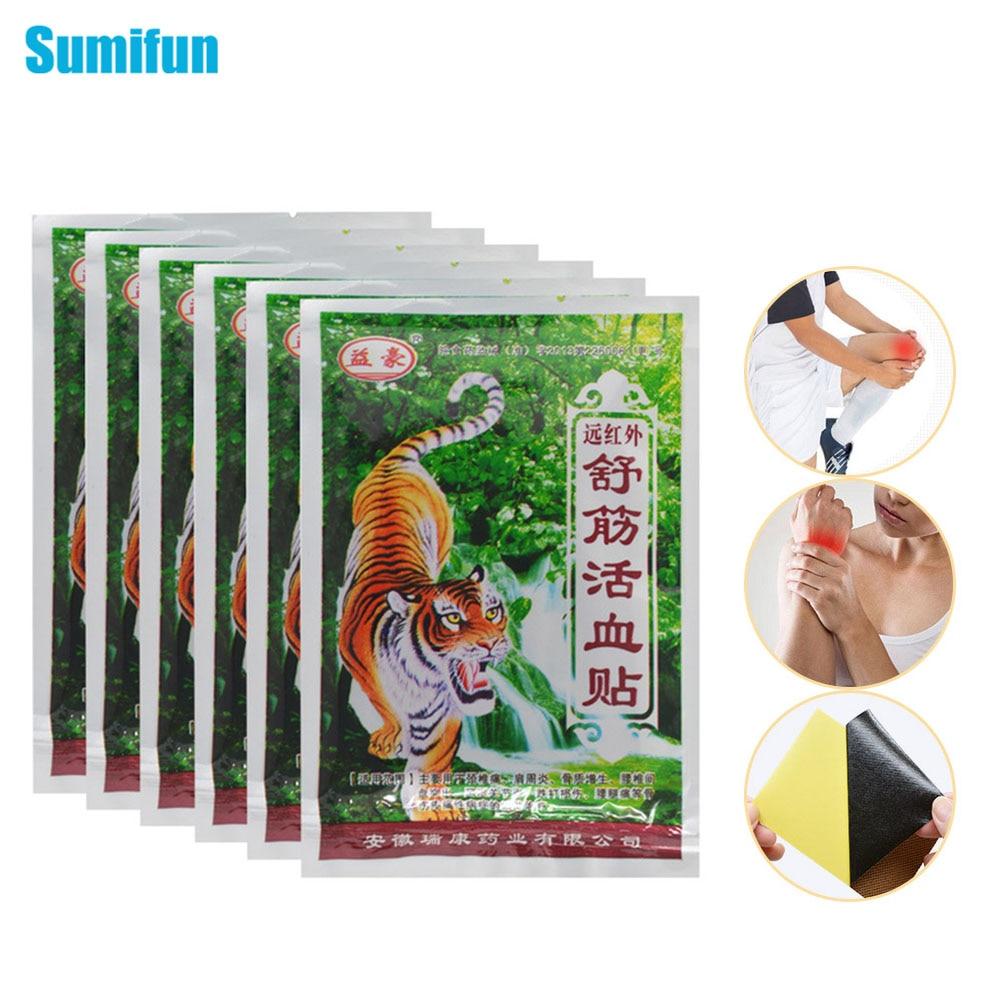 Sumifun 160 piezas chino parche de alivio del dolor medicados yeso pasta corporal relajante muscular decenas estimulador masaje de hombros C336