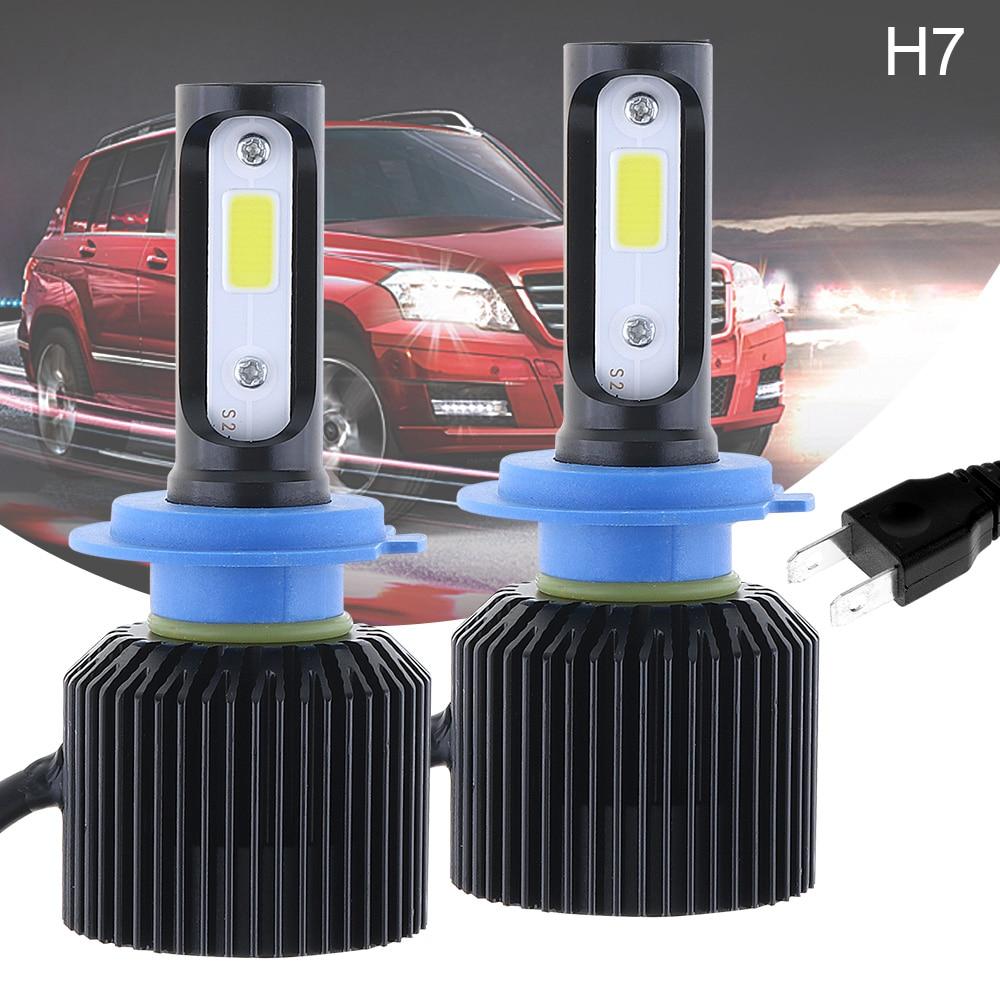 72W H7 8000LM 6000K All-In-One LED Headlight Kit Hi or Lo  Beam Bulbs Automotive LED Headlamps Car accessories for Car Auto
