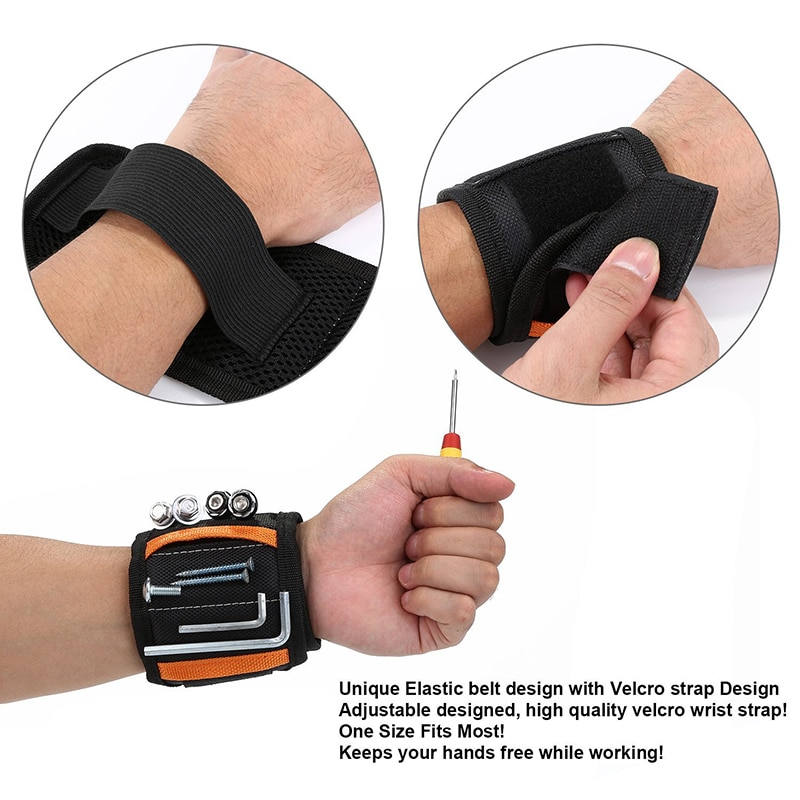 New  10Strong Magnets Strap Magnetic Wristband for Holding Screws Nails Drill Bits Potable Tool Gift enlarge