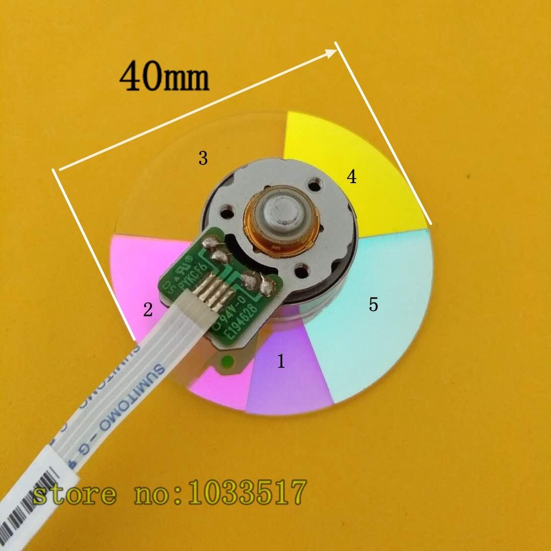 عجلة ألوان لجهاز العرض optoma EP3125/EP3725/DN384 ، قطر 40 مللي متر