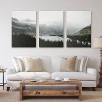 nature landscape canvas painting nordic style poster wall art pictures for living room decor forest lake posters and prints