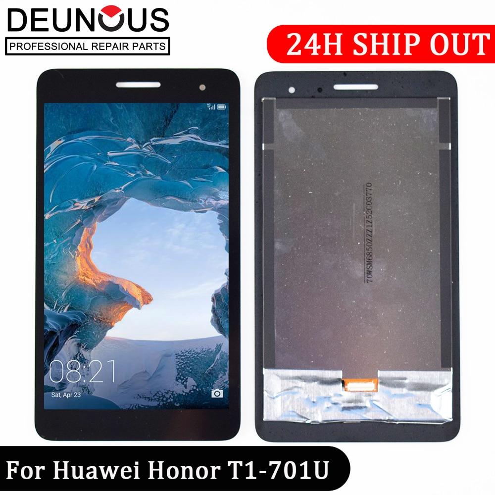 Nouveau 7 'pouces pour Huawei Honor Play Mediapad T1-701 T1 701U T1-701U écran LCD avec écran tactile panneau numériseur livraison gratuite