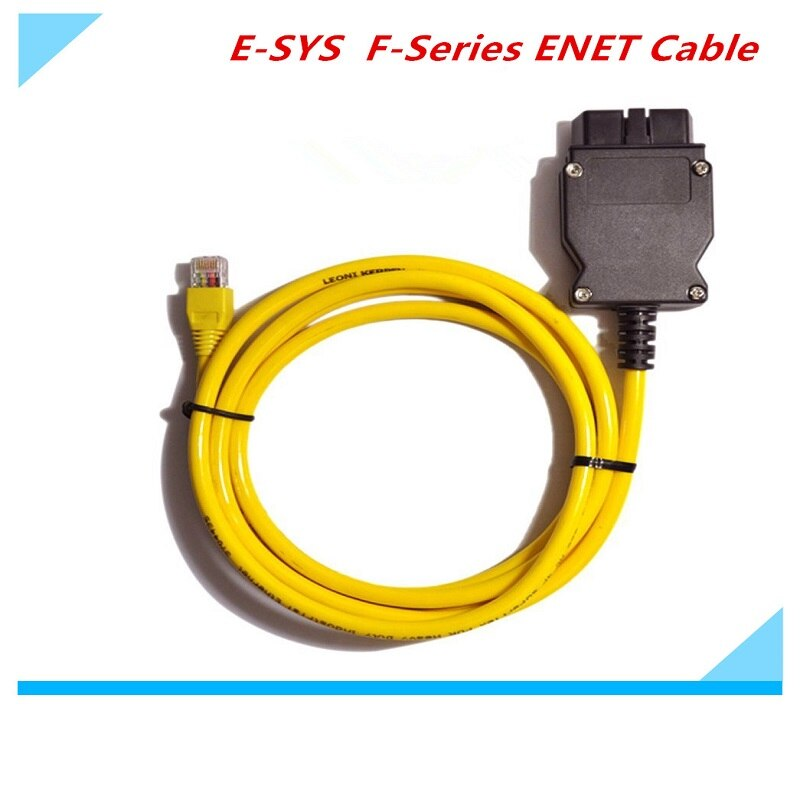 Cable de interfaz BMW Ethernet ENET a OBD de la mejor calidad 2019 E-SYS Cable de diagnóstico Serie F de codificación esys ESYS ICOM