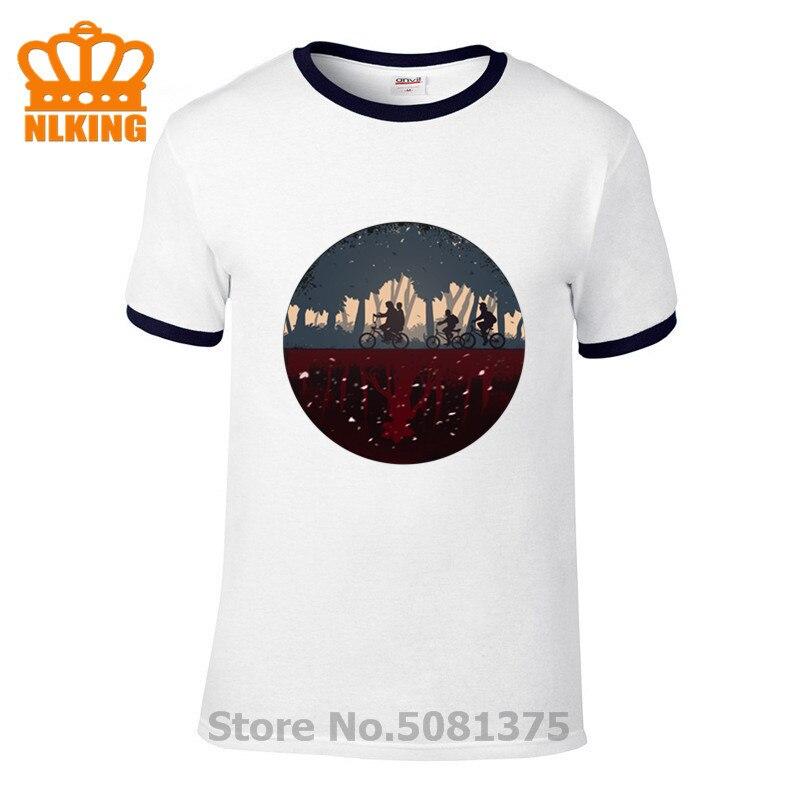 """Obcy rzeczy sezon 1 śmieszne koszulki letnie bawełna bluza mężczyźni kolarstwo górskie druku T shirt serialu """" Stranger Things """"Tee"""