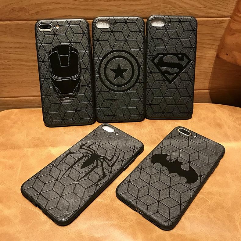 Funda Los vengadores de Marvel de superhéroe escudo Capitán América para iPhone 11 pro 8 7 6 6S Plus X Xs Max Xr funda de goma Ironman capinhas