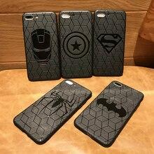Étui pour iphone 11 pro 8 7 6 6S Plus X Xs Max Xr en caoutchouc Ironman capinhas Marvel Avengers Captain America Shield