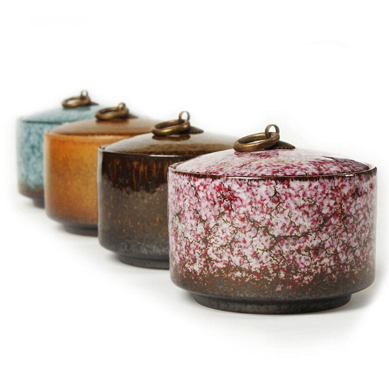 Embalaje de té caja carrito de té de cerámica colorido PU millenum er latas de té 750ML tanque sellado de almacenamiento grande