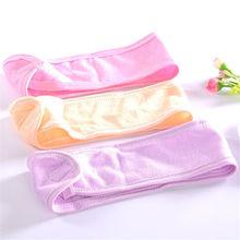 1pcs orange pink blue green purple Velcro Spa Bath Shower Make Up Wash Face Cosmetic Headband Hair Band Accessories Comfortable