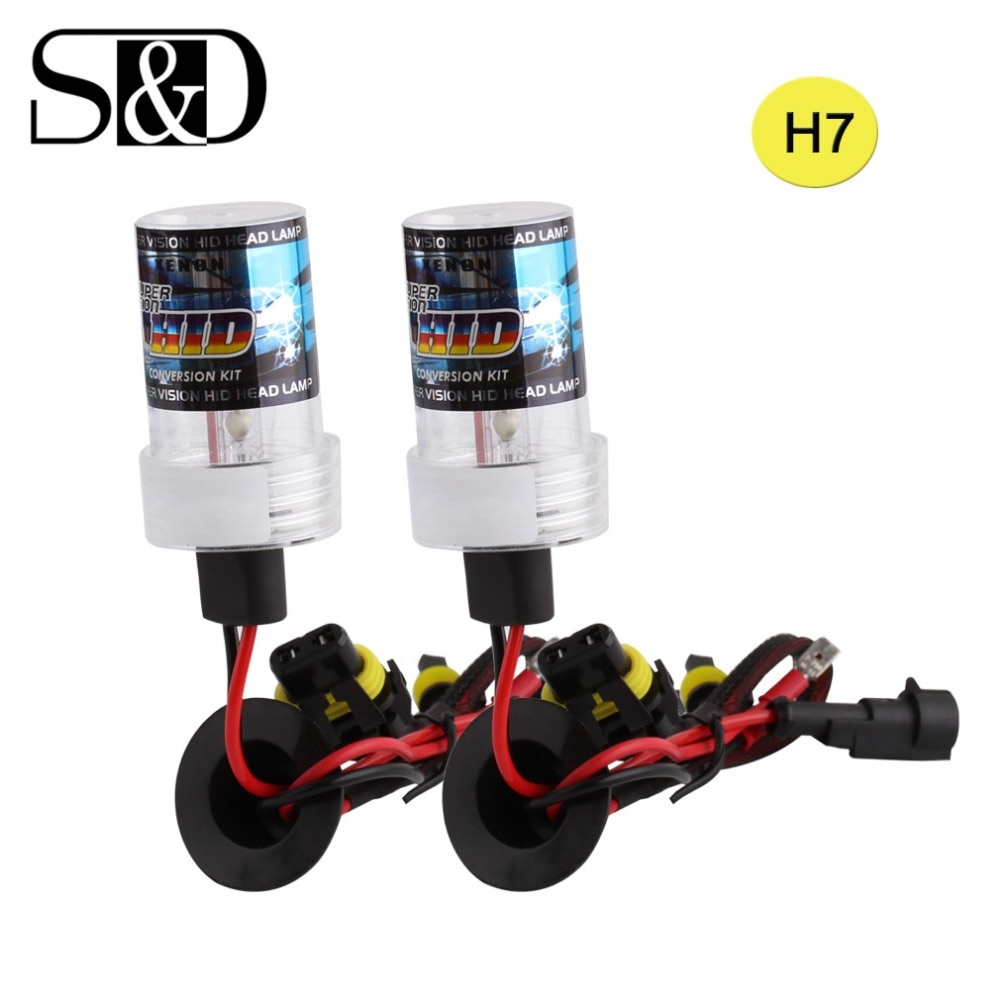 S & D 2Pcs H7 Koplamp Hid Xenon Lamp H11 H1 H3 9005 9006 880 881 H8 H9 HB3 HB4 Lampen Auto Mistlamp Auto Lamp 35W 55W