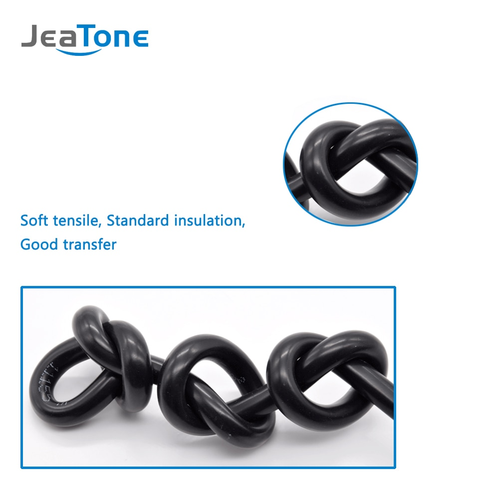 JeaTone 10M Video Extend Cable 4x0.2mm Tinned Copper Wire for Intercom, Ship from Russian warehouse enlarge