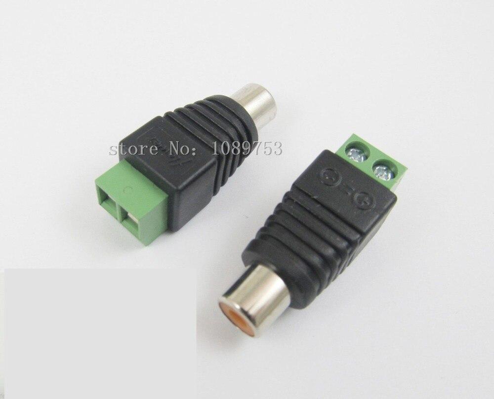 10 Uds CAT5 a cámara vídeo CCTV AV Balun Phono RCA conector hembra adaptador bloque Terminal Envío Directo