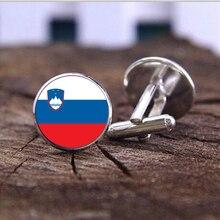 Drapeau National de slovénie modèle hommes boutons de manchette pour hommes haute qualité boutons de manchette émail boutons de manchette bijoux livraison gratuite