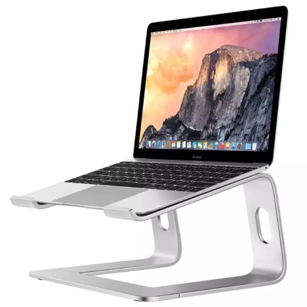 Soporte antideslizante para ordenador portátil, Base de aleación de aluminio para escritorio, disipación de calor
