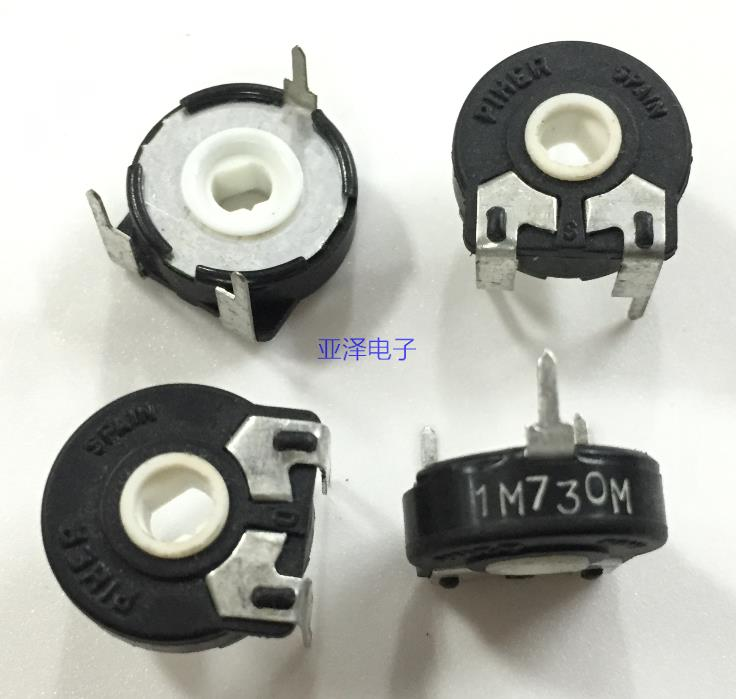 5PCS/LOT Imported Spanish PIHER, Spain trimmer potentiometer, PT15-1M horizontal oval hole