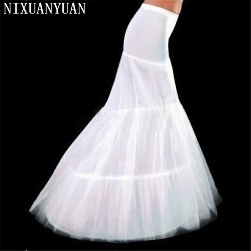 Nixuanyuan atacado frete grátis venda quente barato alta qualidade sereia petticoat 2 aros branco casamento crinoline 2020 novo arriva