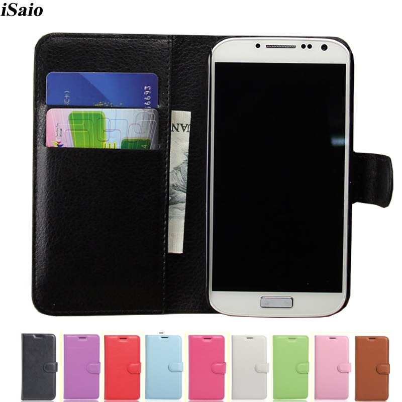 Funda cartera para móvil para Samsung Galaxy S4 i9500 GT-i9500 GT-i9505 i9505 i9506 Funda de cuero con tapa soporte de tarjeta bolsa de teléfono