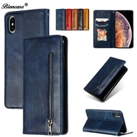 for coque iphone xs max wallet case leather magnetic flip cover case for iphone xs xr 7 8 6 6s plus fundas