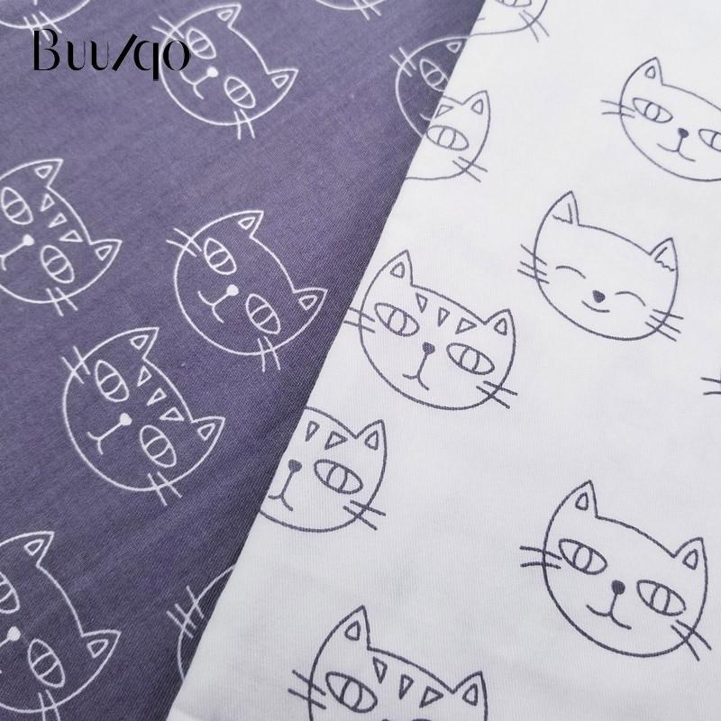 50*40cm tela impresa gatos niños tela de sarga Patchwork tela DIY costura edredón de material para acolchar grueso para Bebé y Niño