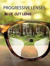1,61 lente de corte azul progresivo interior forma libre lente multifocal para ordenador lentes de computador antirreflejo para visión lejana EV1511