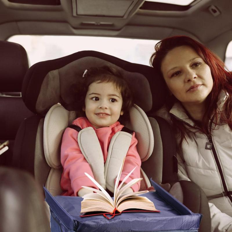 Водонепроницаемый поднос для сиденья автомобиля, детский столик, детские игрушки, держатель для воды, стол для хранения детской коляски, держатель для еды, стол для путешествий