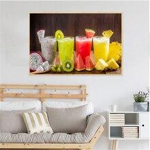 Furit Juice Food Painting Ice Drinks Lemon Tea Posters and Prints Lemon Kitchen Decoration Modern Wall Art Picture Nordic Print
