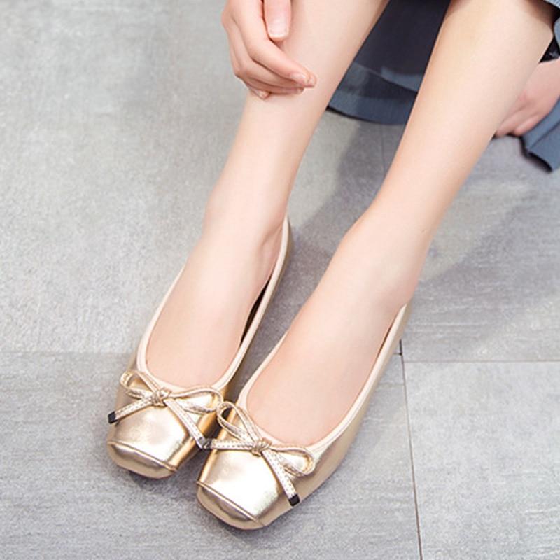 Zapatos planos 2020 para mujer, zapatos planos informales para mujer, suave elegante zapatos náuticos señora Slip-on mujer Ballet Flats negro dorado gris YX1375