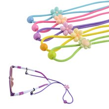 Lunettes de soleil en Nylon pour enfants   20 pièces, cordon élastique avec bouton ajustable coloré antidérapant pour enfants, lunettes de soleil, cordon de cou, vente en gros