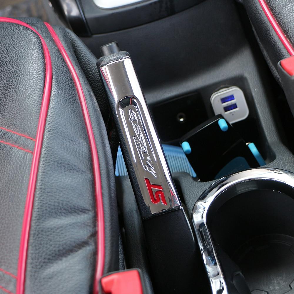 Цвет моя жизнь новый автомобильный Стайлинг интерьера ABS хром защита ручного тормоза Накладка для ручного тормоза наклейка для Ford Fiesta MK7 2009 +