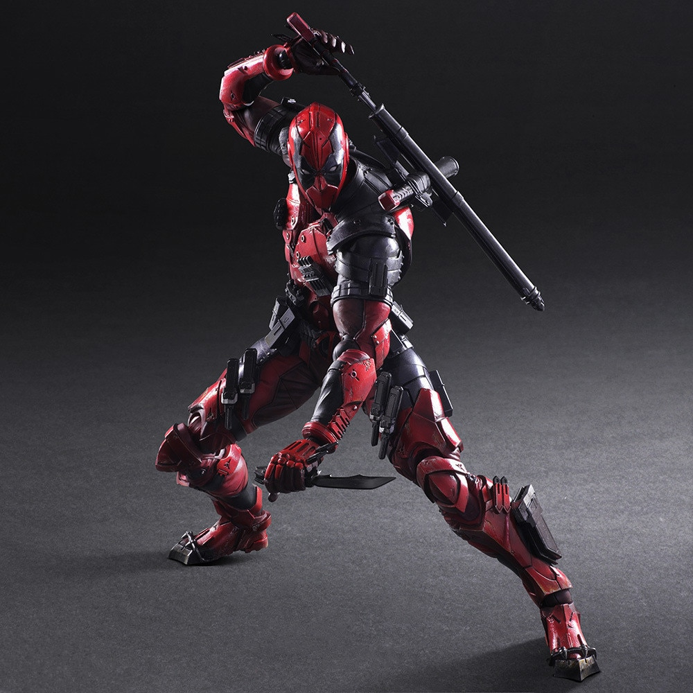 PLAY ARTS 27cm Marvel X-men Deadpool  Super Hero Action Figure Model Toys