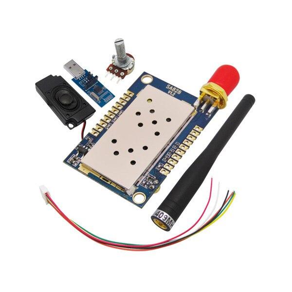 2sets/lot high integreated 1W Walkie Talkie module UHF   VHF Voice module kits SA828