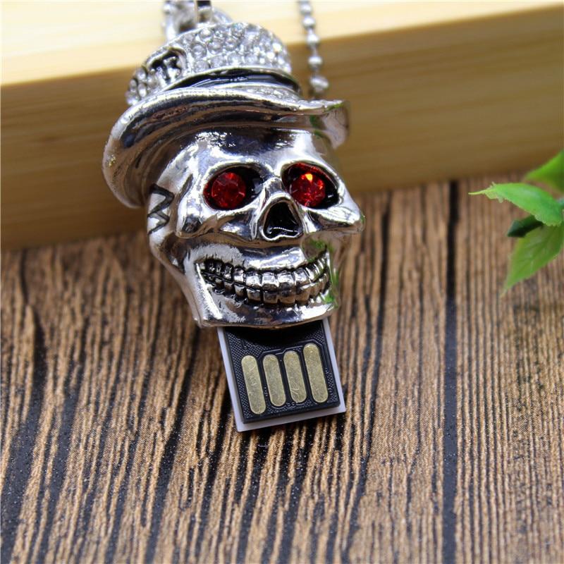 BiNFUL creative 32GB Crystal Skull USB Flash Drive 4GB 8GB 16GB precious stone pen drive give friend gift