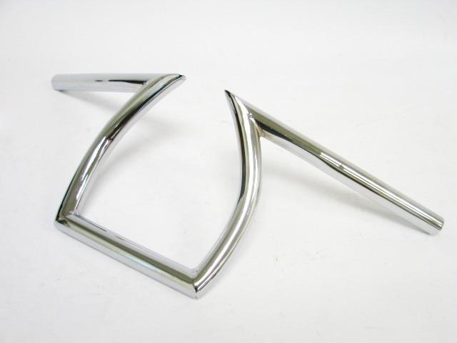 "Freeahipping Chrome Drag  25mm  handle bar Handlebars 1""  Z Bars 8-3/4"" Rise for Triumph BSA Victory Custom Chopper Cafe Racer"